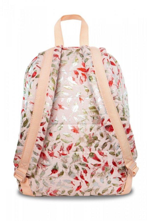 Plecak CoolPack miejski RUBY piórka na różowym tle FEATHERS BLUSH (22776)