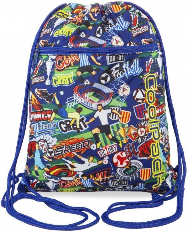 WOREK CoolPack VERT sportowy na obuwie w kolorową kreskówkę, FOOTBALL CARTOON (B70036)