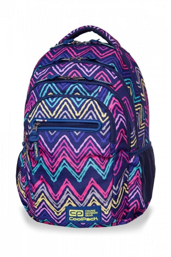 Plecak CoolPack COLLEGE TECH kolorowe wzory, FLEXY (B36103)