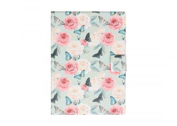Notes na rzep A5 kwiaty i motyle, BUTTERFLIES (02620)