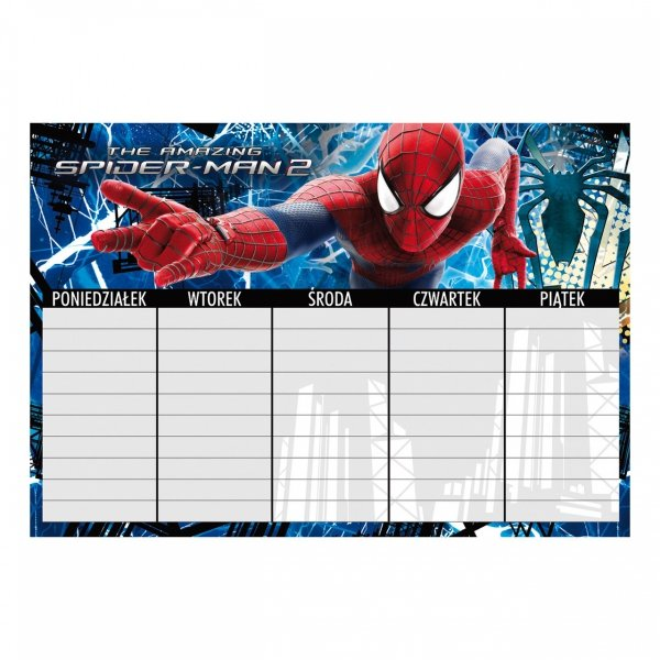Plan lekcji Amazing Spiderman, licencja Marvel (PLNAS)