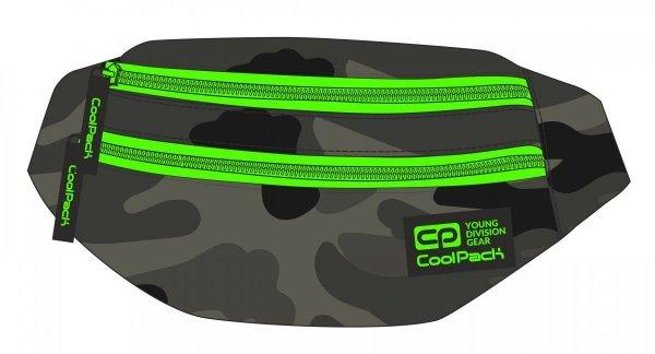 SASZETKA NERKA CoolPack na pas torba MADISON klasyczne moro z zielonymi dodatkami, CAMO GREEN NEON (92807CP)