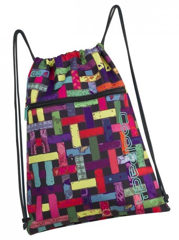 WOREK CoolPack SHOE BAG sportowy na obuwie kolorowa przeplatanka, RIBBON GRID (88053CP)