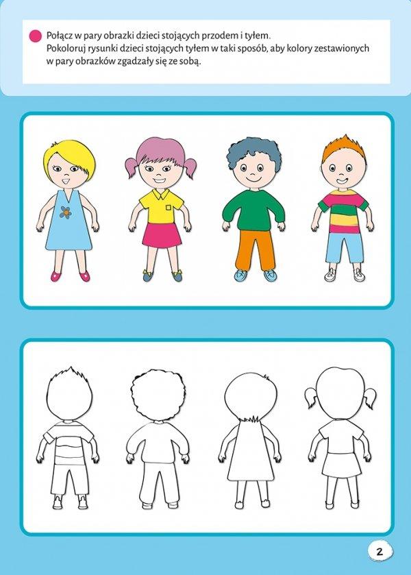 Kolorowanka z naklejkami GŁÓWKA PRACUJE dla 4-latka (43768)