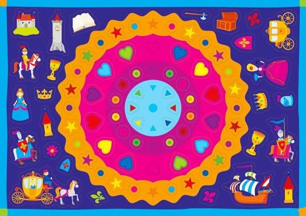 Kolorowanka z naklejkami ZAGADKI DAWNYCH CZASÓW 3+ (43317)