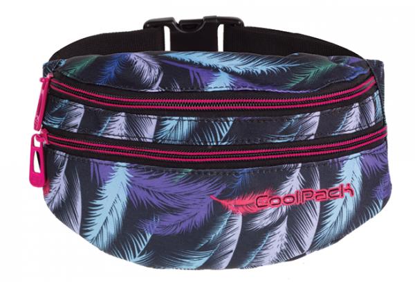 SASZETKA NERKA CoolPack na pas torba MADISON w kolorowe pióropusze, PLUMES 967 (70928)
