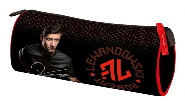Piórnik tuba Robert Lewandowski czarno-czerwony (74179)