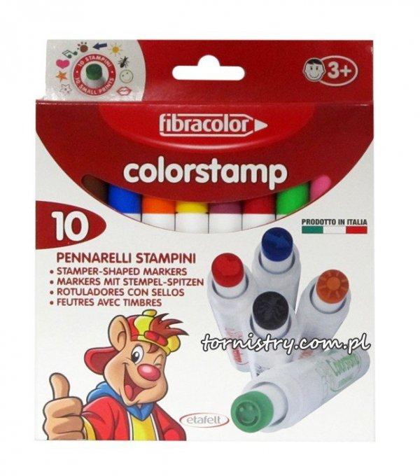 Pisaki stempelki łatwo zmywalne Fibracolor 10 szt
