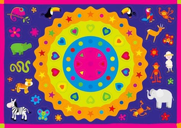 Kolorowanka z naklejkami ZAGADKI DŻUNGLI 3+ (43317)