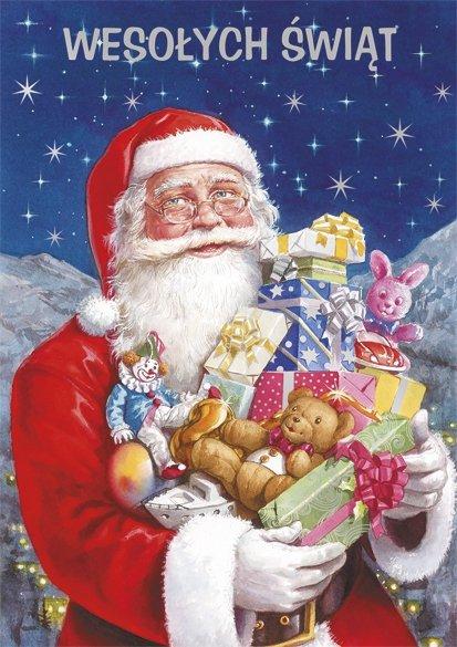 Kartka świąteczna BOŻE NARODZENIE 12 x 17 cm + koperta (41321)