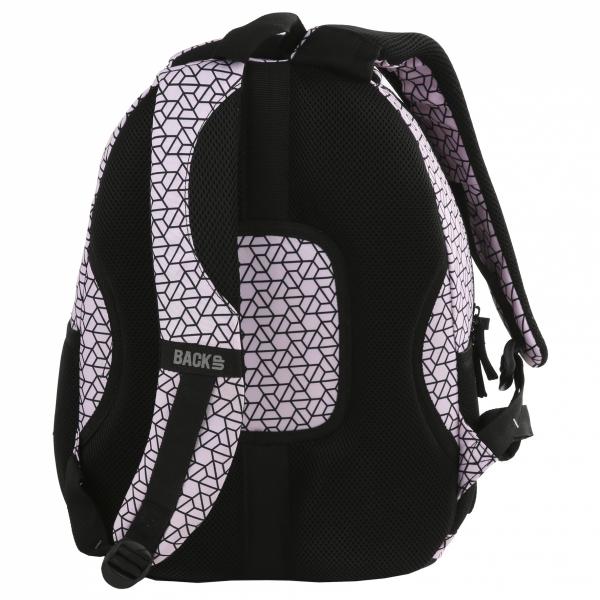 Plecak szkolny młodzieżowy BackUP czarne wzory, ŚRUBKI (PLB2A02)