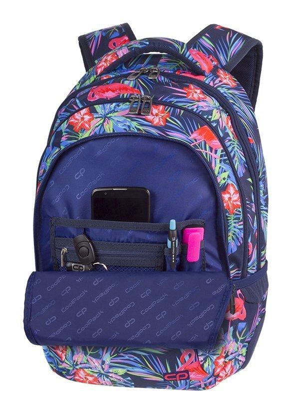 d690aac7f1381 Plecak szkolny młodzieżowy COOLPACK COLLEGE różowe flamingi
