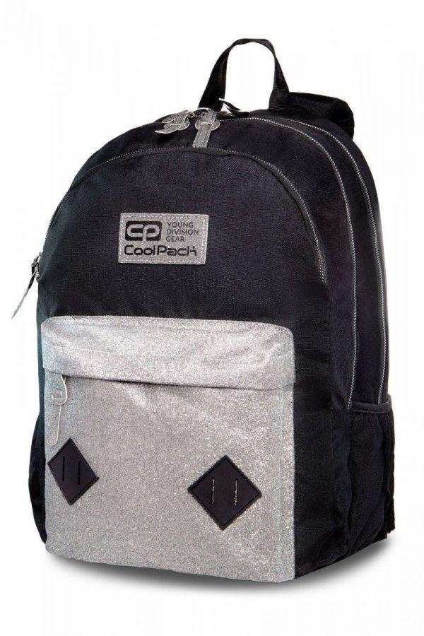 Plecak CoolPack HIPPIE czarny ze srebrnym dodatkiem SILVER GLITTER (22325)