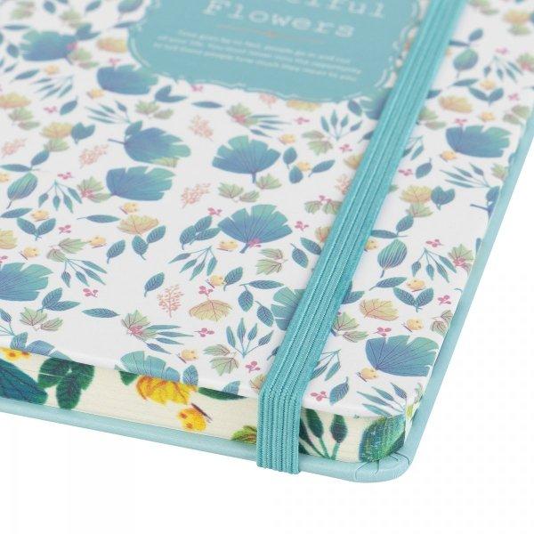 Notes na gumkę A6 Beautiful Flowers zielony (925034)