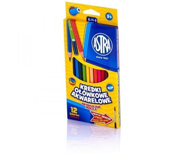 Kredki ołówkowe akwarelowe 12 kolorów ASTRA (312110004)