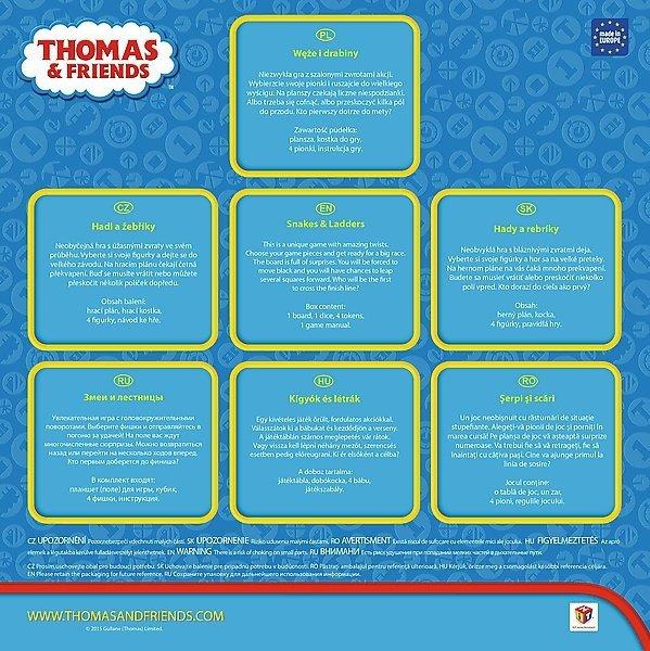 Gra planszowa Tomek i przyjaciele, WĘŻE I DRABINY Trefl (01291)