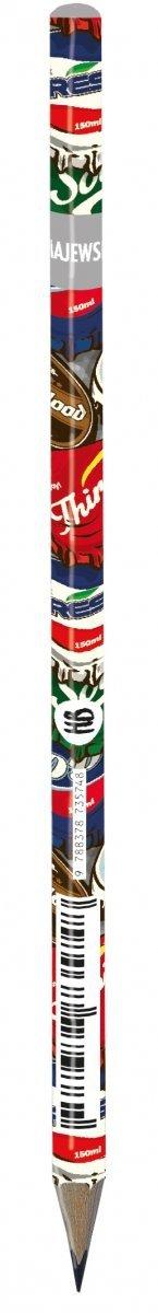 Ołówek szkolny trójkątny HB BOTTLE CAPS (03770)