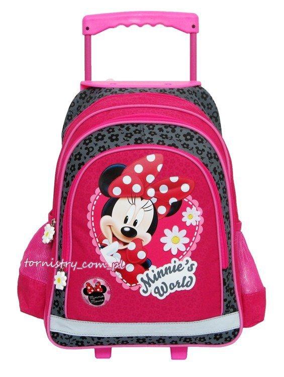 Plecak szkolny na kółkach Myszka Minnie, licencja Disney (PL15KMM11)