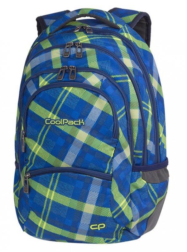 Plecak CoolPack COLLEGE niebieski w zieloną kratę, SPRINGFIELDS (82553CP)