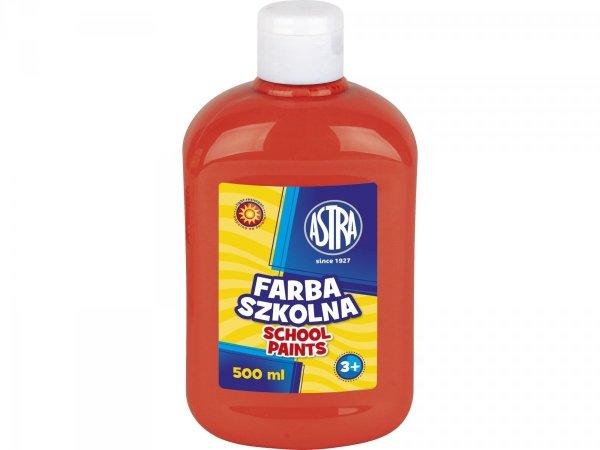 Farba szkolna CZERWONA CIEMNA 500 ml ASTRA (40074)