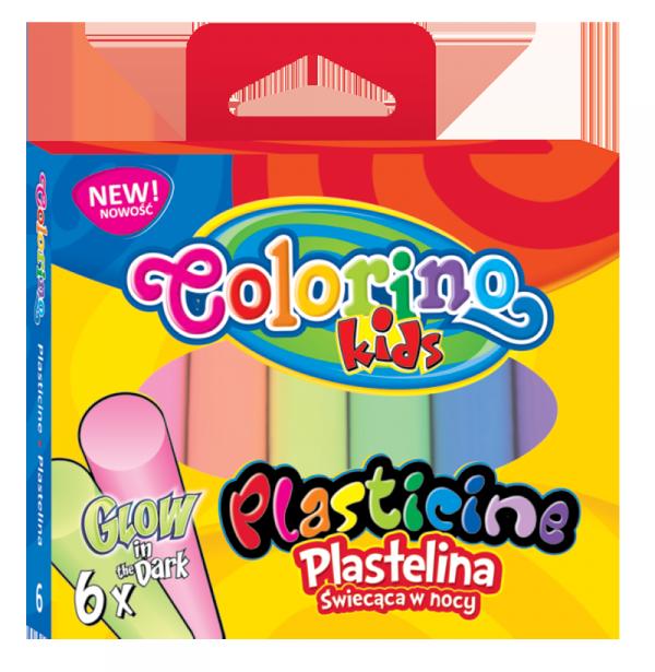 Plastelina GLOW świecąca w ciemności 6 kolorów COLORINO (42680PTR)