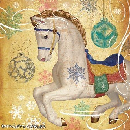 Serwetki świąteczne MAGIC HORSE, Paw (SDL071200)