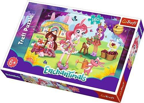 TREFL Puzzle 160 el. ENCHANTIMALS, Bree, Danessa i Felicyty w ogrodzie (15361)