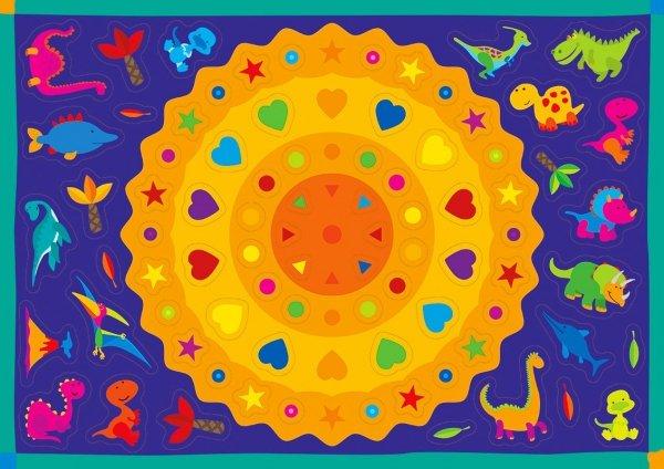 Kolorowanka z naklejkami ZAGADKI DINOZAURÓW 3+ (43317)