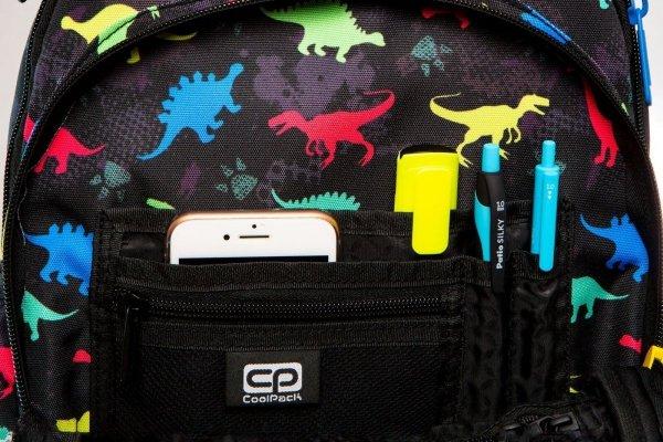 Plecak CoolPack LED JUNIOR na kółkach dinozaury DINOSAURS (94627)