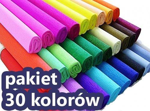 Bibuła marszczona 50x200 cm PAKIET 30 KOLORÓW (PAK30K)