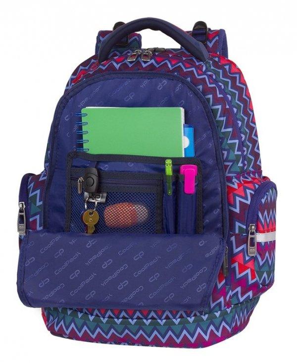 Plecak CoolPack BRICK kolorowe zygzaki, CHEVRON STRIPES (82379CP)