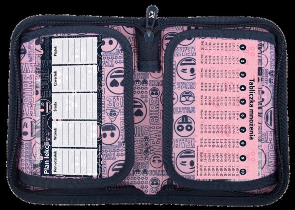 Piórnik St.Right bez wyposażenia Emoji Pink EMOTIKONY PC03 (07389)