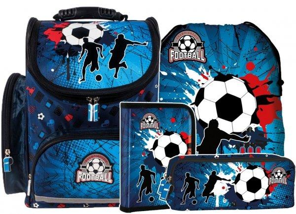 ZESTAW 4 el. Tornister szkolny ergonomiczny FOOTBALL Piłka nożna (TEMBPI12SET4CZ)