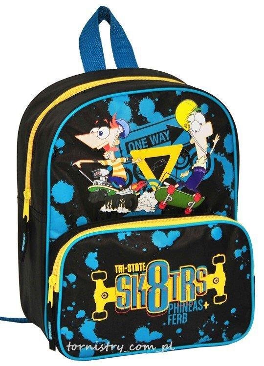 Plecak przedszkolny, wycieczkowy Fineasz i Ferb, licencja Disney (DFE305)