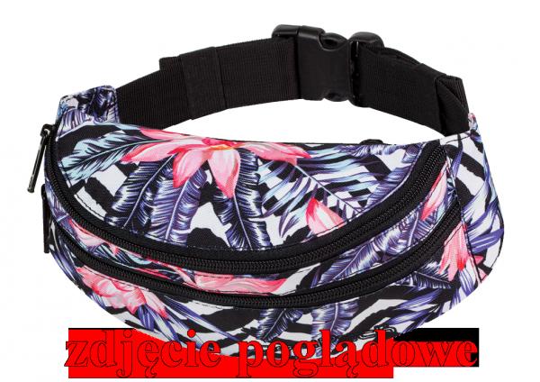 Saszetka na pas torba nerka COOLPACK MADISON czarna z pomarańczowymi dodatkami, MISTY ORANGE 958 (70683)