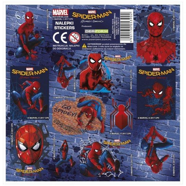 Nalepki ozdobne Amazing Spiderman, licencja Marvel  (NZSH)