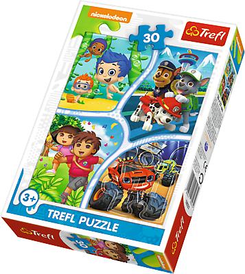 TREFL Puzzle 30 el. Psi Patrol, Dora, Blaze, Bąbelkowy świat Gupików (18227)