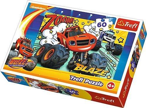 TREFL Puzzle 60 el. Blaze i Mega Maszyny, Co za drużyna (17305)