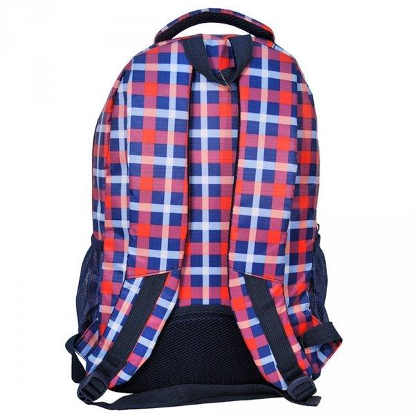 Plecak szkolny młodzieżowy w kolorowę kratę (158122A)
