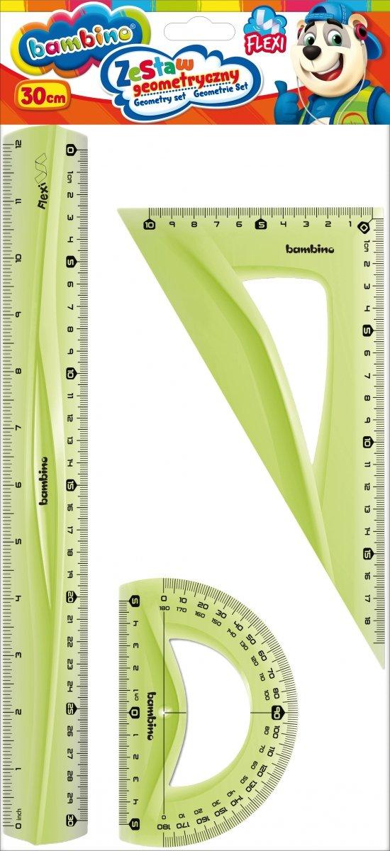 Zestaw geometryczny FLEXI 3 elementy 30 cm BAMBINO (03158)
