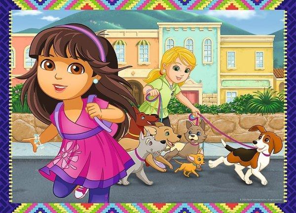 TREFL Puzzle 4 w 1 Dora i przyjaciele (34265)