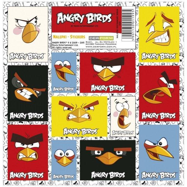 Nalepki ozdobne ANGRY BIRDS (NZAB)