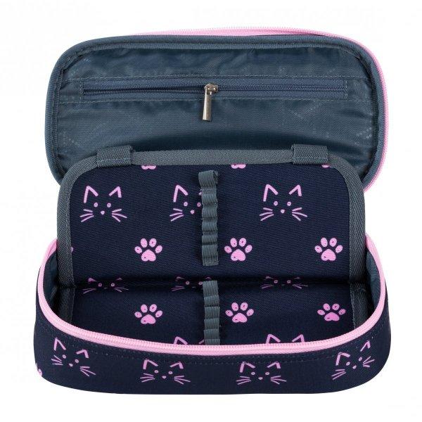ZESTAW 2 el. Plecak szkolny młodzieżowy ST.RIGHT w kocie łapki, CATS & PAWS BP1 (27354SET2CZ)