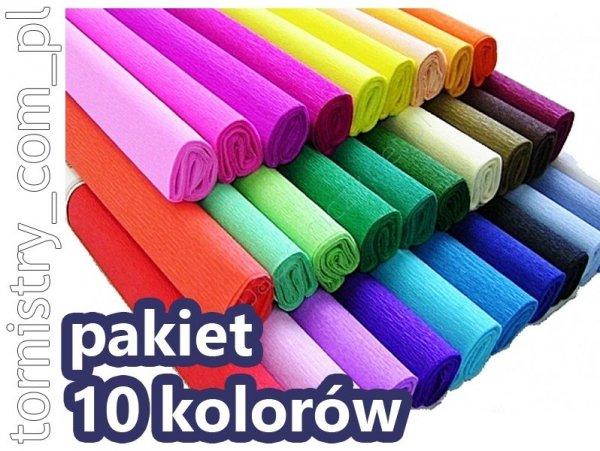 Bibuła marszczona 50x200 cm PAKIET 10 KOLORÓW (PAK10K01)