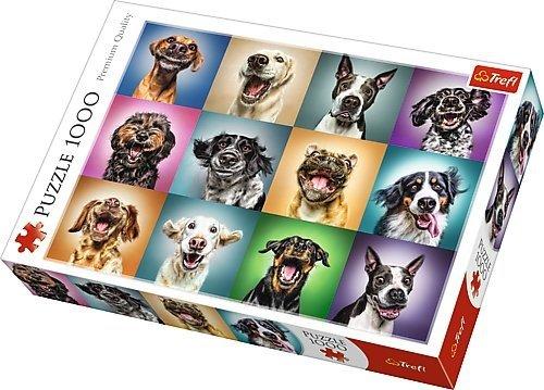 TREFL Puzzle 1000 el. Zabawne psie portrety (10462)