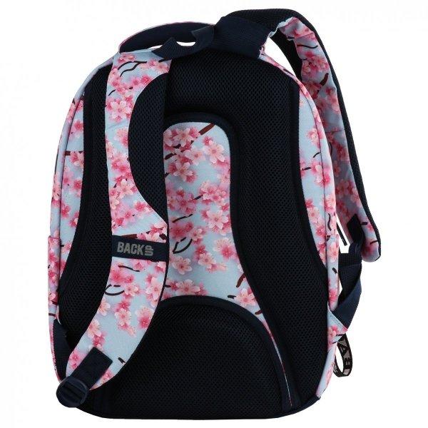 ZESTAW 3 el. Plecak szkolny młodzieżowy BackUP KWIATY JABŁONI (PLB2L25SET3CZ)