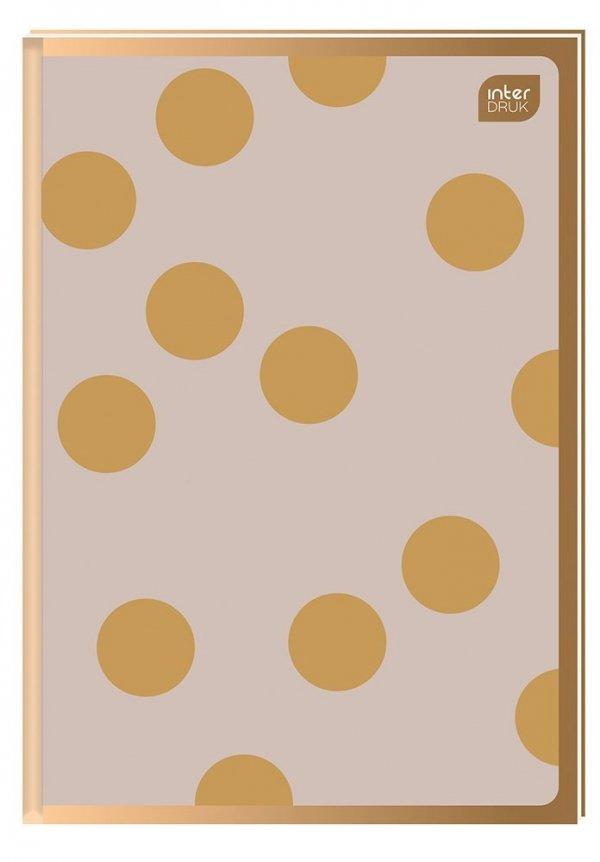 Brulion A5 96 kartek w kratkę, twarda oprawa METALIC SATIN GOLD (94241)
