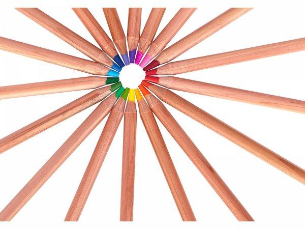 Kredki ołówkowe PRESTIGE z drewna cedrowego 12 kolorów ASTRA (312117001)