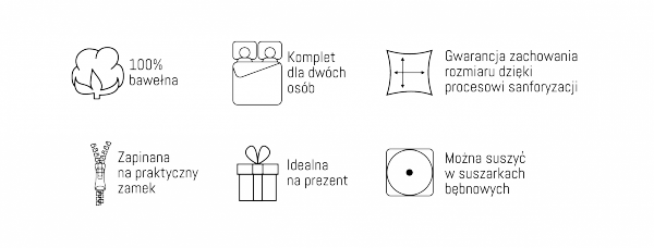 Pościel bawełniana HOLLAND COLLECTION 220 x 200 cm komplet pościeli (2973B)