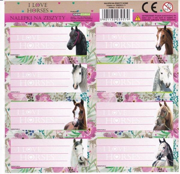 Nalepki na zeszyty I Love Horses KONIE (NNZKO)